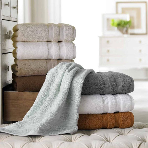 Ring Spun Cotton 600 Gsm Quick Dry 6 Piece Towel Set