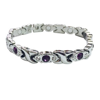 Stainless Steel Crystal Magnetic Bracelet