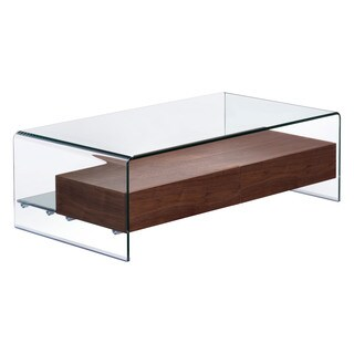 Shaman Mid-century Style Tempered Glass Table