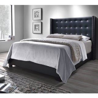 DG Casa Black Savoy Wingback Bed
