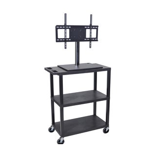 Luxor 3-Shelf TV Cart with Electrical Outlet