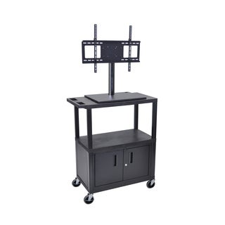 Luxor TV Cart with Cabinet and Electrical Outlet