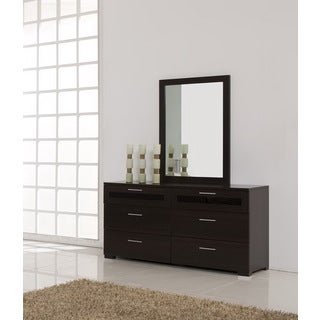Jasper 6-Drawer Double Dresser and Mirror Set