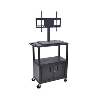 Luxor Tall TV Cart with Cabinet
