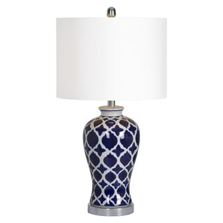 Ren Wil Indigo Single-light Porcelain Table Lamp