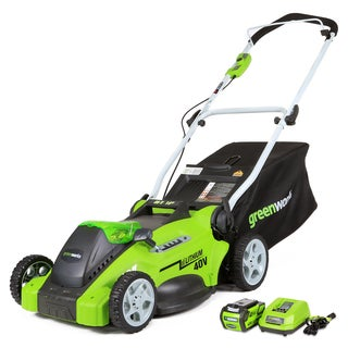 GreenWorks G-MAX 16-inch Cordless Lawn Mower