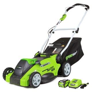 GreenWorks G-MAX 16-inch Cordless Lawn Mower|https://ak1.ostkcdn.com/images/products/9514638/P16693255.jpg?_ostk_perf_=percv&impolicy=medium