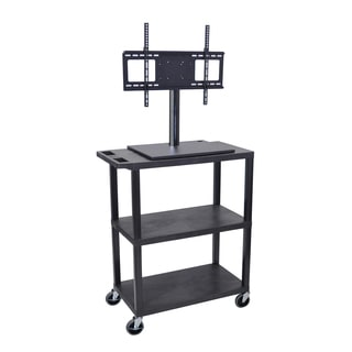 Luxor Tall 2-Shelf TV Cart