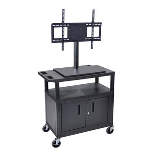 Luxor Short TV Cart with Cabinet