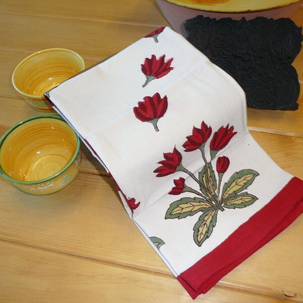 Couleur Nature Crocus Tea Towels (20-inch x 30-inch set of 3)