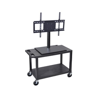 Luxor Short TV Cart with Electrical Outlet