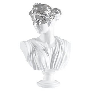 Ren Wil Classic Silver/ White Bust Statue