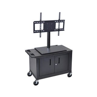 Luxor 2-Shelf And Cabinet Flat Panel TV Cart