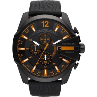 Diesel Men's DZ4291 Black Leather Chronograph Watch