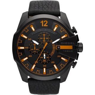 Diesel Men's DZ4291 Black Leather Chronograph Watch