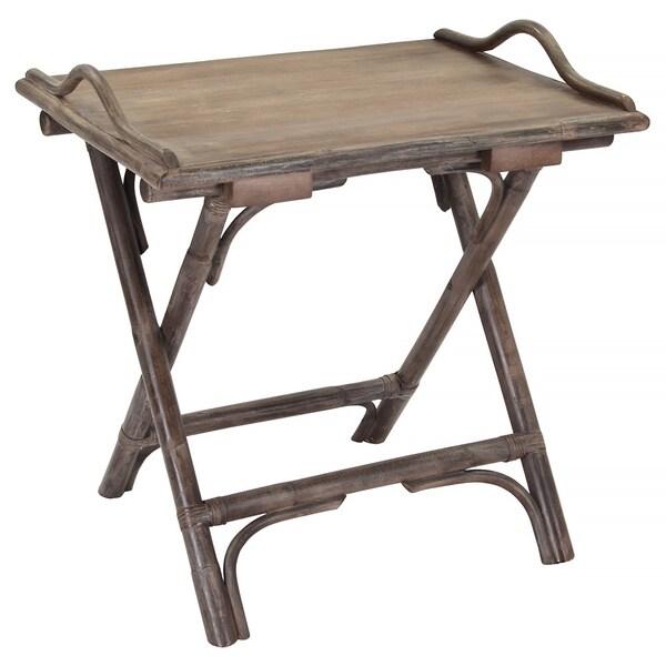 Decorative Natural Rattan Folding Side Table