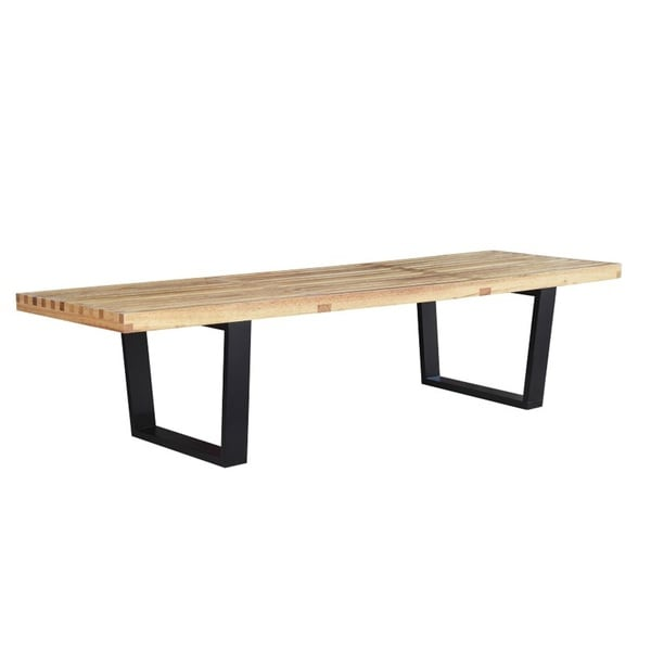 60-inch Modern Wood Bench - Free Shipping Today - Overstock.com ...