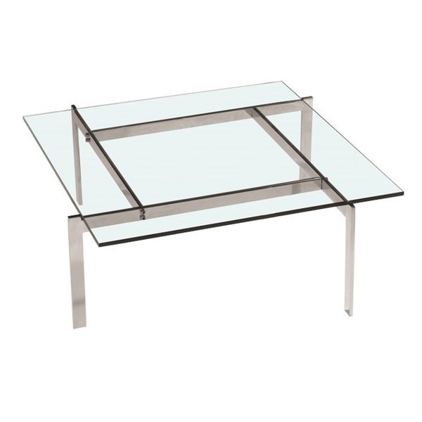 Pika 32-inch Square Glass Coffee Table