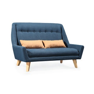 Klondike Linen Denim Blue Loveseat