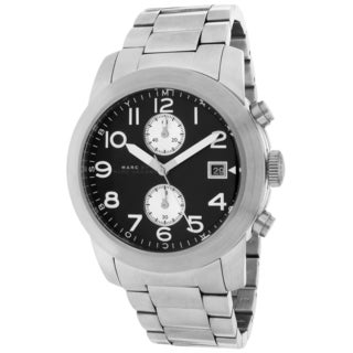 Marc Jacobs Men's MBM5050 Larry Black Dial Chronograph Stainless Steel Watch