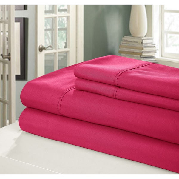Shop Chic Home Peach Skin Bright Sheet Set On Sale