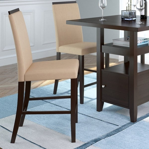 CorLiving Smooth Top Counter Height Dining Chairs (Set Of 2)
