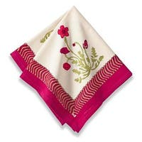 Couleur Nature Poppies Napkins 19-inch (Set of 6)