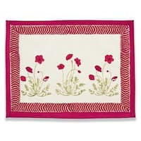 Couleur Nature Poppies Mats, 15x18-inch (set of 6)