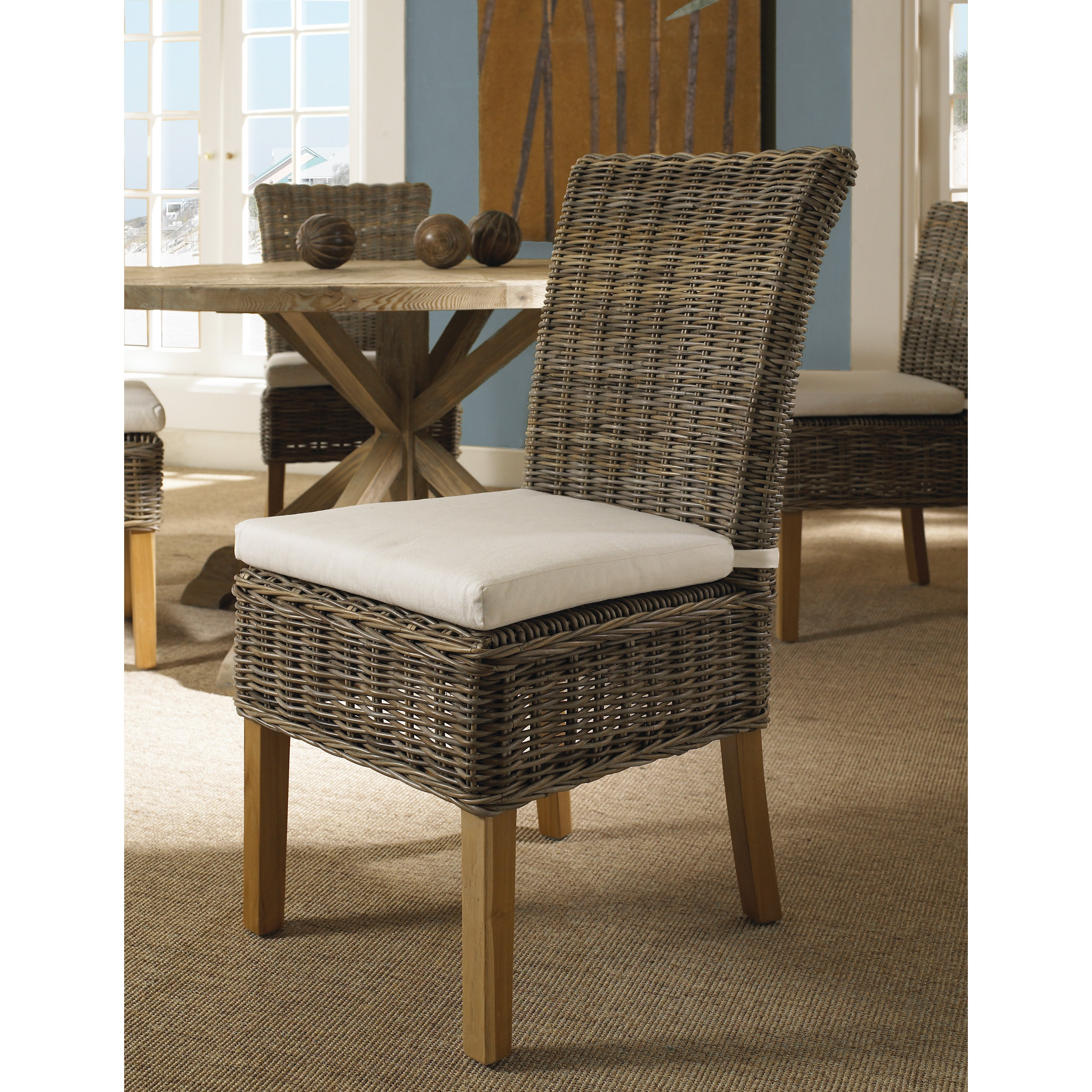 Picture of: Boca Dining Chair Kubu With White Cushion Overstock 9514867