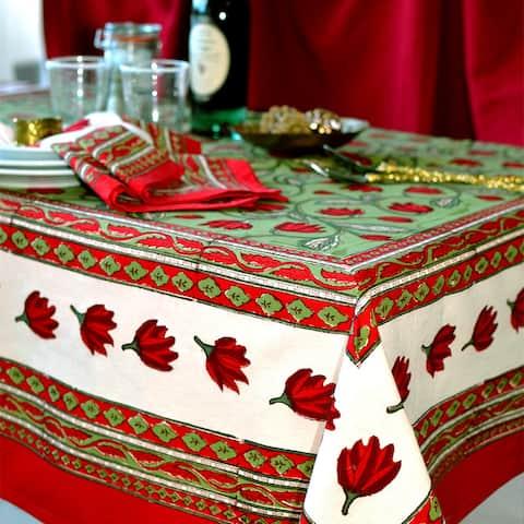 Couleur Nature Crocus Rectangle Tablecloth