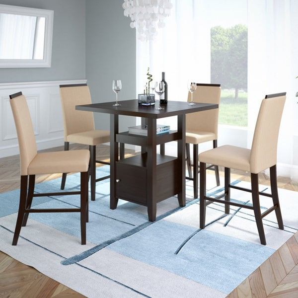 36 Inch Dining Room Table: Shop CorLiving Bistro 36-inch Counter Height Rich
