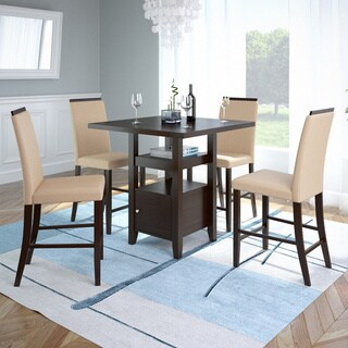 CorLiving Bistro 36-inch Counter Height Rich Cappuccino Dining Set (2 options available)