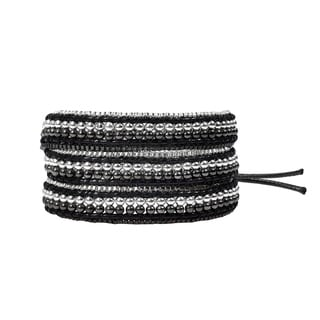 Exotic Affair Two Tone Metal Three Wrap Fashion Bracelet (Thailand)