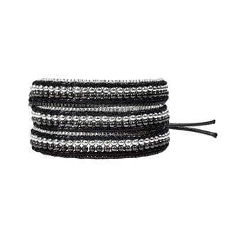 Exotic Affair Two Tone Metal Three Wrap Fashion Bracelet (Thailand)