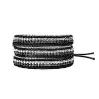 Handmade Exotic Affair Two Tone Metal Three Wrap Fashion Bracelet (Thailand)