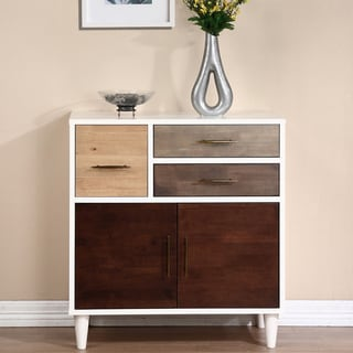 Christian Birch, Grey and Oak Entry Cabinet