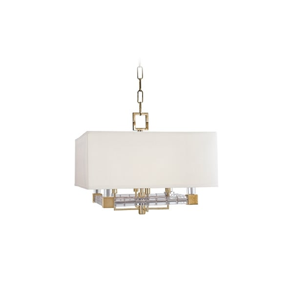 Shop Hudson Valley Alpine 4-light Pendant, Off-white Shade