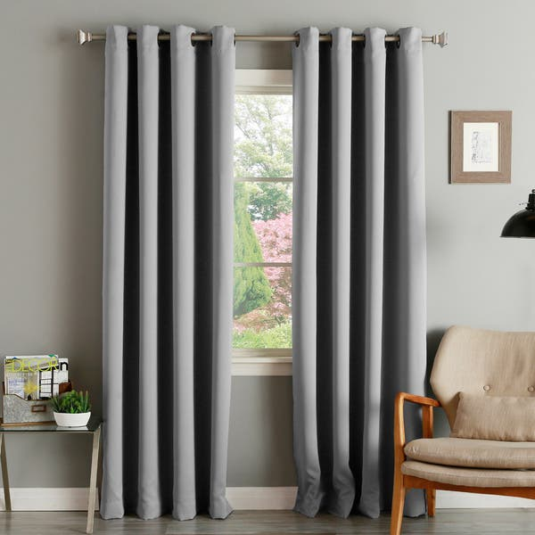 Shop Black Friday Deals On Aurora Home Thermal Insulated Blackout Grommet Top Curtain Panel Pair On Sale Overstock 9515041