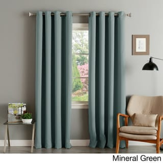 Aurora Home Thermal Insulated Blackout Grommet Top Curtain Panel Pair (52 w x 120 l - Mineral)