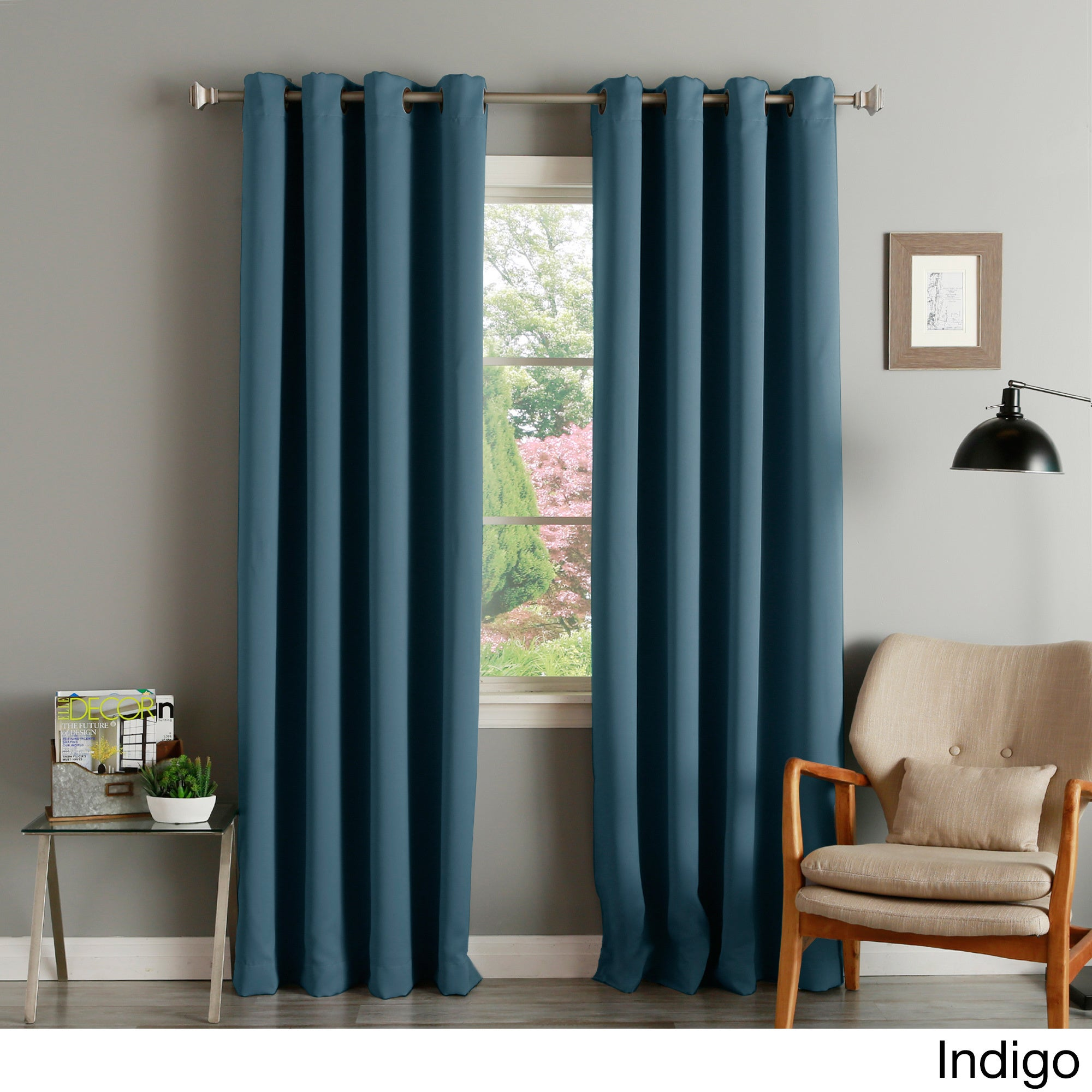Thermal Insulated Blackout Grommet Top Curtain Panel Pair