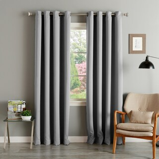 Aurora Home Thermal Insulated Blackout Grommet Top Curtain Panel Pair (More options available)
