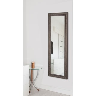 American Made Rayne Dark Embellished Mahogany 26 x 64 Full Body Mirror