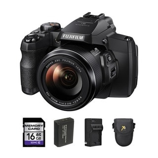 Fujifilm S1 16GB Black Digital Camera Bundle