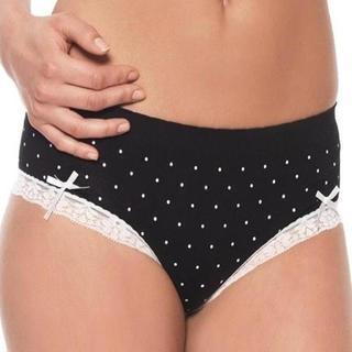 Prestige Biatta Seamless Satin Bow Lace Hipster Panties