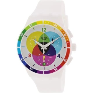 Swatch Men's SUSW404 Originals SUSW404 White Rubber Swiss Quartz Watch