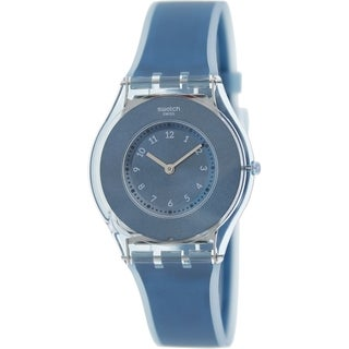 Swatch Women's 'Skin' Blue Silicone Swiss Quartz Watch