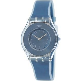 Swatch Women's 'Skin' Blue Silicone Swiss Quartz Watch