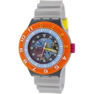 Swatch Men's 'Originals' Silver Rubber Swiss Quartz Watch