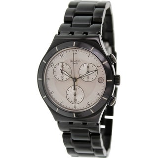 Swatch Men's Irony YCB4026AG Black Aluminum Swiss Quartz Watch
