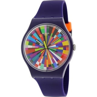 Swatch Men's Originals SUOV101 Purple Silicone Swiss Quartz Watch
